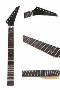 Maple Guitar Neck 24Fret 25.5Inch Skull inlay Rosewood Fretboard Guitar parts