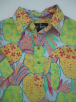 Mens Small The Nutter Chubbies pineapple hawaiian pullover shirt