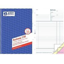 Avery Zweckform Rechnung 1730, SD, A5, 2x 40 Blatt, Rechnungsblock, Vordruck