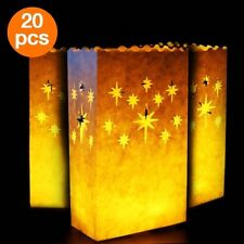 Starry Candle Luminary Bags 20 pc tealight candle Bags Reusable decoration home