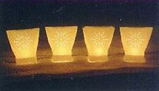 WHITE STARBURST CHRISTMAS ELECTRIC luminary pathway light SET RC brand DIE CUT