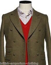 Holland Esquire HAND CUSTOMISED DB LT Green Shetland Chesterfield Coat BNWT Uk36