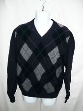 MENS BROOKS BROTHER ARGYLE PRINT PURPLE SWEATER SIZE XL 100% LAMBSWOOL