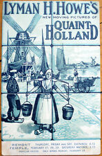 1915 Advertising Postcard: Moving Pictures of Quaint Holland - Lyman H. Howe