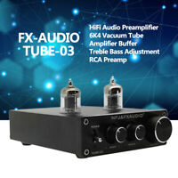 Fx-Audio Tube-03 Hifi Audio Preamplifier 6k4 Vacuum Tube Amplifier Buffer P0E0