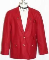 STEINBOCK ~ RED Women BOILED WOOL Austria Designer Winter Dress JACKET / 42 14 L