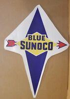 """Blue Sunoco Gas Pump Vinyl Decal 21"""" x 15"""" * Gas & Oil *Blue ver"""