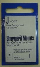 Showgard size J40/25 black hingeless stamp mount NEW unopened pack 1st quality