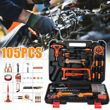 105PCS Household Tool Garden Home Tool Set Kit Box Repair Hard Case DIY Tools