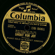 ALBERT AMMONS -PIANO BOOGIE- Shout for Joy/ MEADE LUX LEWIS Bear Cat Crawl X3180