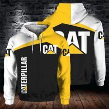 Logotipo de alimentación más reciente Caterpillar 3D Sudadera Casual Deportivo Con Capucha Prenda para el torso Camiseta