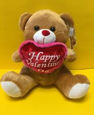 "10"" Talking Brown Plush ""Happy Valentine's Day� Heart- Soft toy-New"