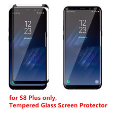 100 Pcs Samsung Galaxy S8 Plus Tempered Glass Screen Protector Anti-Scratch BK