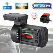 New listing Mini 0906 Pro Dual Lens 1080P Wi-Fi Gps Car Dash Camera Dvr For Iphone Android