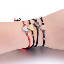Women Love Heart Bracelet Lovers Adjustable Red String Couple Lucky Bracelets