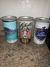 Beer Cans Flat Top Arrowhead Beer Old Vienna Schell Nice Lot Of 3 Old Beer Cans