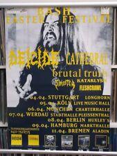 Deicide, Cathedral etc  Bash Easter Festival  83cm X 59cm  1995 Poster
