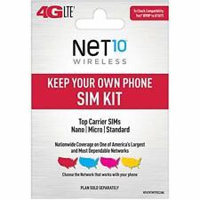 Net10 Keep Your Own Phone 3-in-1 Prepaid Sim Kit Black