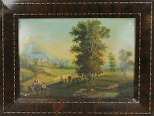 D1-004. FOLK SCÈNE. HUILE SUR METAL. ÉCOLE HOLLANDAISE. CENTURY XVIII-XIX.
