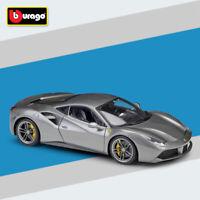 Bburago 1:18 Scale Ferrari 488 GTB Racing Handcover Diecast Car Model New In Box