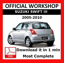 >> OFFICIAL WORKSHOP Manual Service Repair Suzuki Swift III 2005 - 2010
