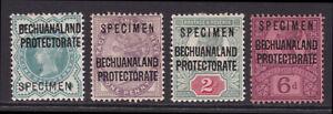 Bechuanaland. 1897-1902, 1/2d to 6d specimens. Mounted mint.