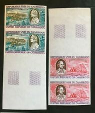 Stamp Cameroon Yvert and Tellier Aerial N°285 IN 286x2 Not Serrated N MNH (Z27)