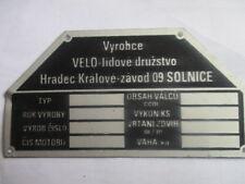 Typenschild velorex  Schild id-plate