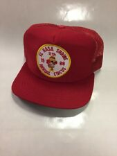Vintage 80s El Hasa Shrine Circus Trucker Hat Rare Usa Made