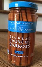 NEW Tillen Farms PICKLED CRUNCHY CARROTS 12oz Glass Jar Stonewall Kitchen USA