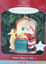 Hallmark 1998 Magic Keepsake Ornament  Santa's Show 'n' Tell NIB