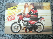 BROCHURE ZÜNDAPP MOPEDS 1975 ? MODELS DUTCH LANG 8 PAGES PH734,KS50,GTS50,K80,CS
