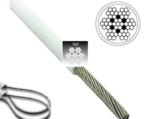 Wire Rope Stainless Steel WHITE PVC Coated Wire Rope 4-6mm