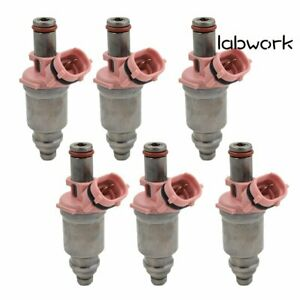 6Pcs Fuel Injector 23250-74080 For Toyota 1992-98 Land Cruiser Lexus 96-98 LX450