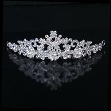 Bridal Bridesmaid Wedding Tiara Crystal Rhinestone Flower Headband Headdress