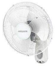 Heller Hwal 40R 40cm Wall Fan with Remote 3 Speed Oscillating Tilt Adjustable