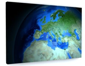 Planet Earth Canvas Picture Print Wall Art C221