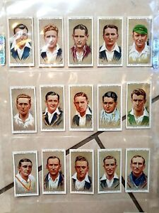 Full Set 1934 Players Cricketers Cigarette Cards incl Bradman