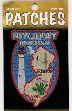 State of New Jersey Souvenir Patch  The Garden State  Trenton