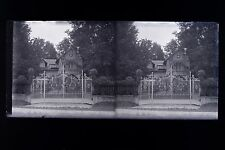 France Villa à la campagne Amateur Plaque de verre stéréo NEGATIF vers 1925