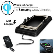 Car Qi Wireless Charging Charger Holder Dashboard Non-Slip Mat For Cell Phones