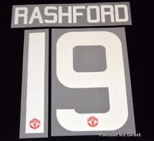Manchester United Rashford 19 Football Shirt Name/Number Europa/League Cup Home