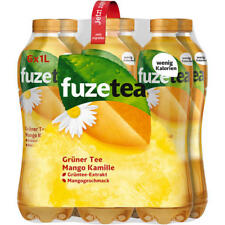 12 Flaschen Fuze Tea Eistee Mango Kamille a 1000ml inc. Pfand