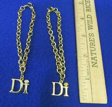 Diamonds International Gold Plated Charm Bracelet & Di Charm Lot of 2