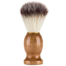 Men's Shaving Brush Synthetic Nylon Soft Hair For Shave Natural Wood Handle