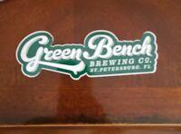 Green Bench brewing co. craft beer brewery STICKER St. Petersburg FL