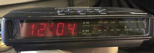 Vintage Small Travel Westclox Alarm Clock Digital Red LCD Display Model No 80183