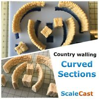 Curved Country Walling Mould -  DT39 - OO Gauge - For Model Railway Scenery