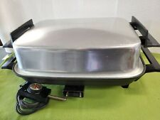 Vintage West Bend Lektro Maid Electric Skillet Tray & Cutting Board 1500 Watts