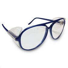 JSP ILES 'Rapier' Safety Spectacles Metallic Blue Frame Clear Lens Glasses